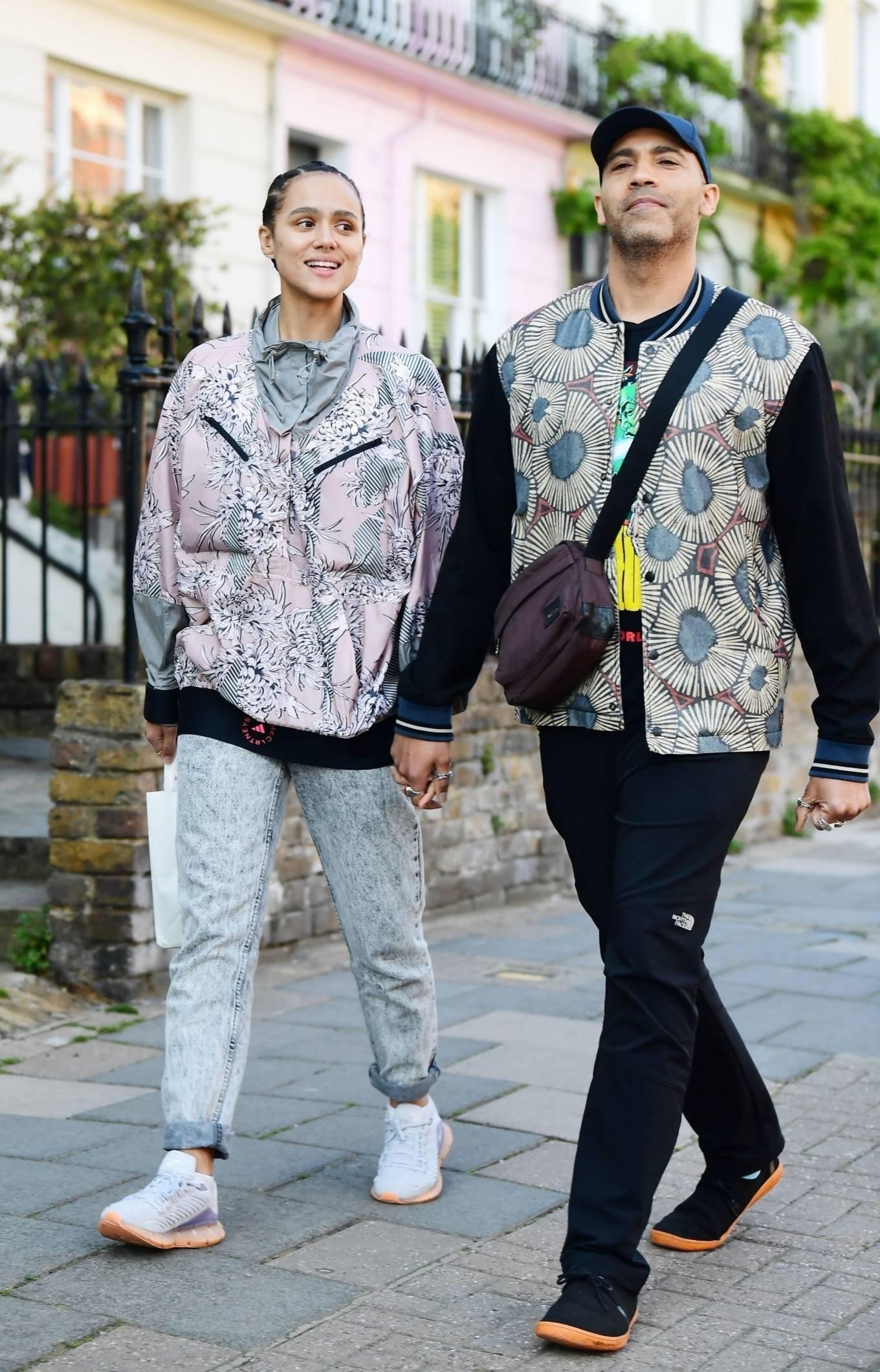Nathalie Emmanuel - Walks hand-in-hand with Alex Lanipekun in London