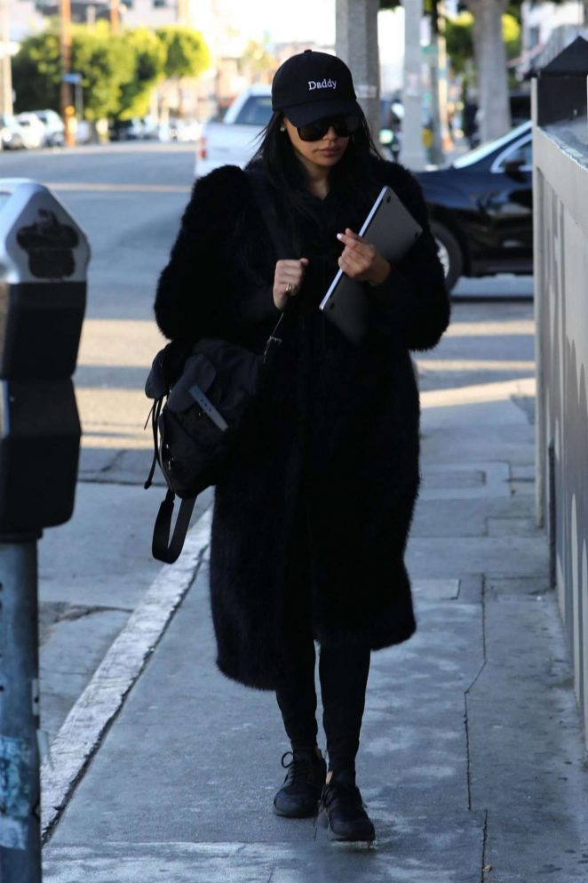 Naya Rivera - Heading to The Belmont in Los Angeles