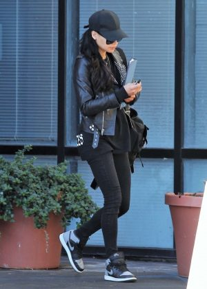 Naya Rivera in Black Tights - Heads an office building in LA