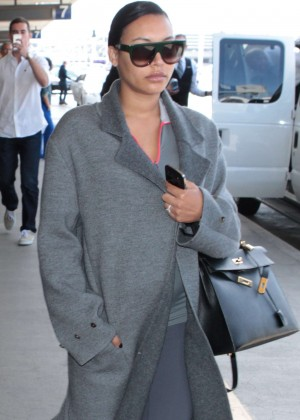 Naya Rivera - LAX airport in LA