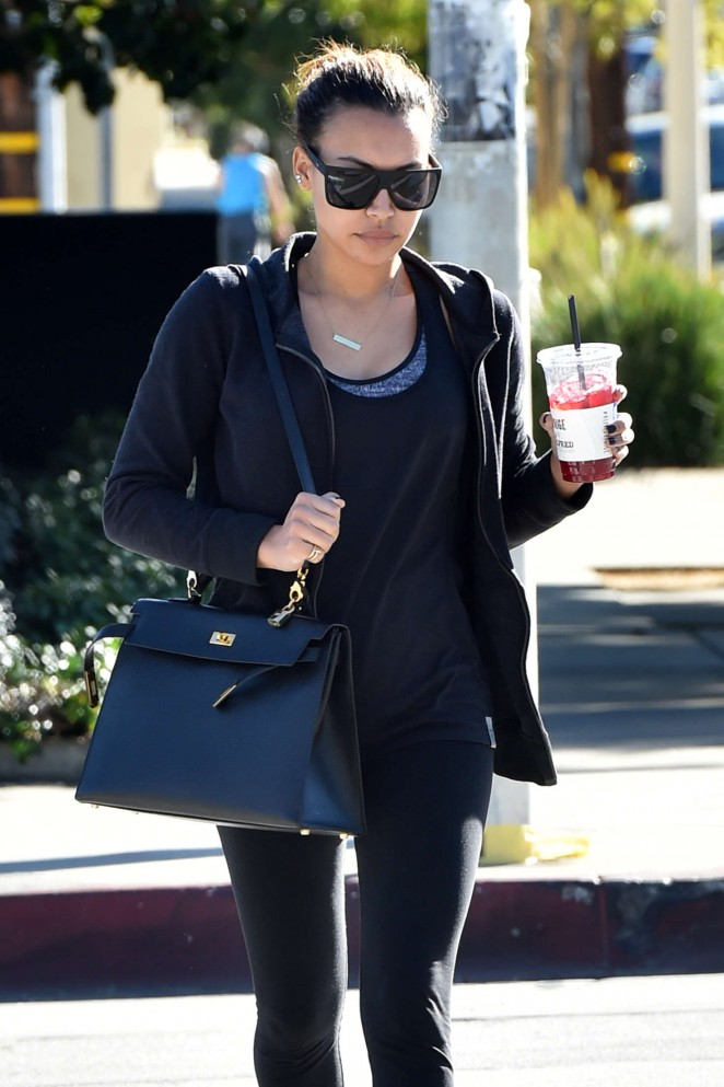 Naya Rivera - Leaves Nine Zero Salon in West Hollywood