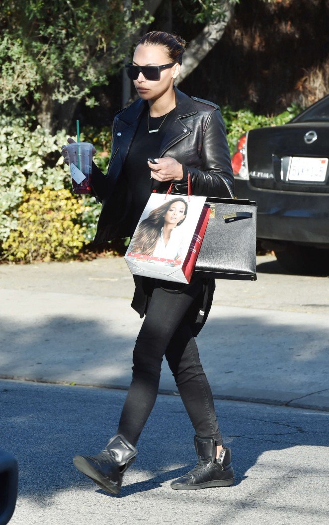 Naya Rivera - Leaves The Andy LeCompte Salon in West Hollywood