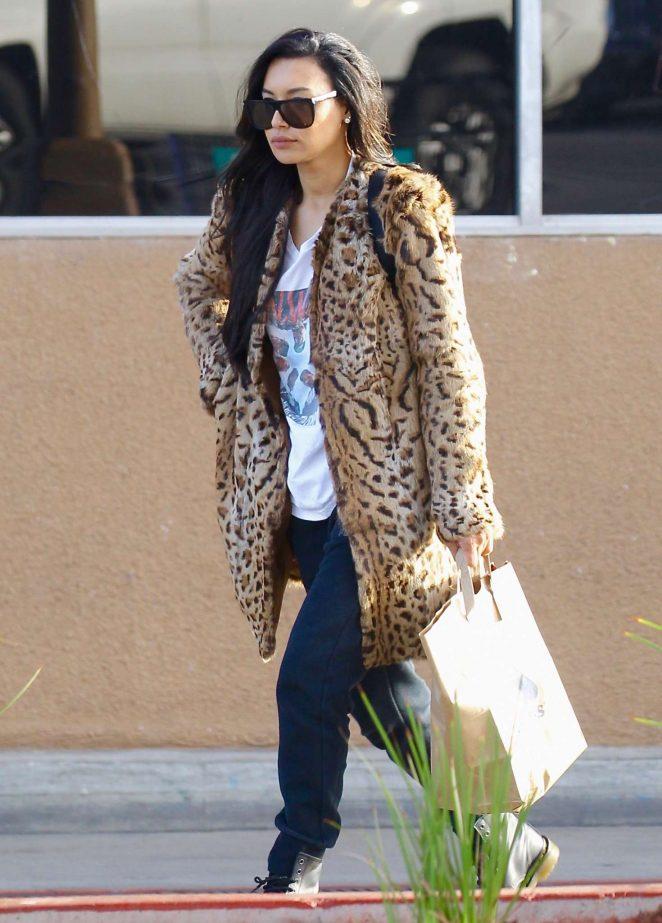 Naya Rivera - Leaving Albertson's supermarket in Los Feliz