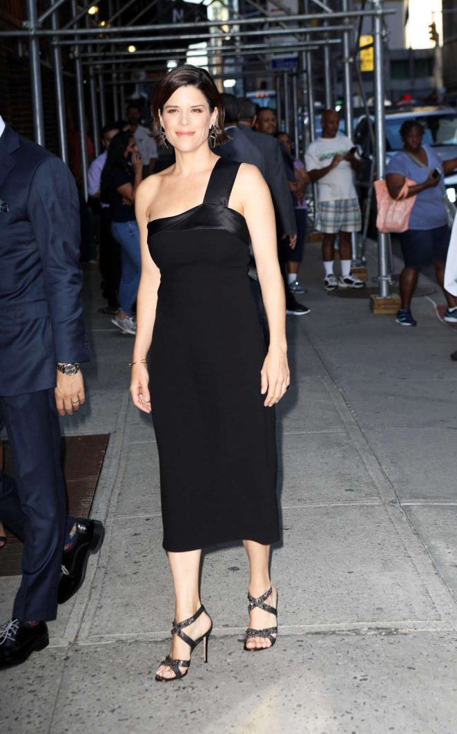 Neve Campbell – Arrives at The Late Show With Stephen Colbert in NYC
