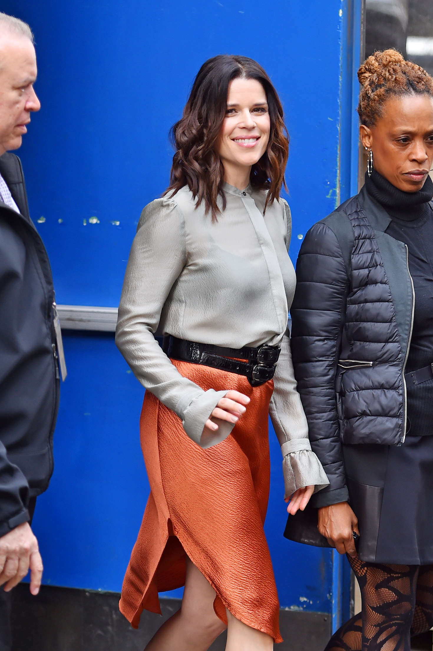 Neve Campbell – Arriving on Good Morning America in New ...