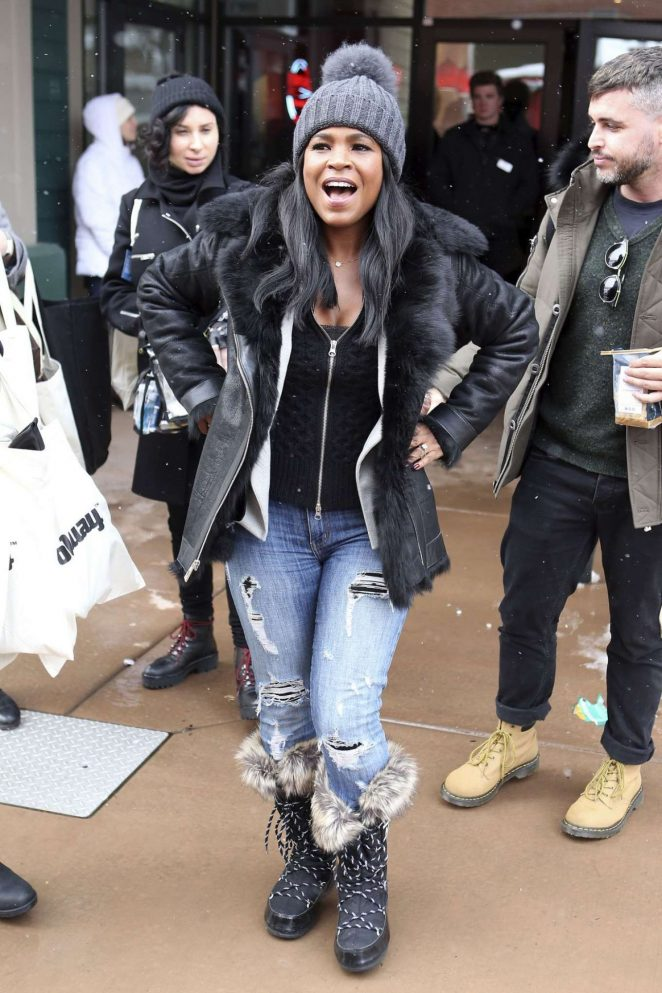Nia Long out at 2017 Sundance Film Festival in Utah