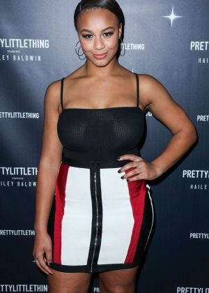 Nia Sioux - PrettyLittleThing x Hailey Baldwin Launch Event in LA