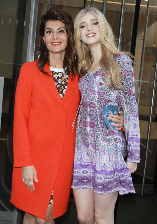 Nia Vardalos and Elena Kampouris at SiriusXM Studios promoting \'My ...
