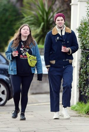 Nicholas Hoult and Hannah Murray - Out for a walk in Primrose Hill