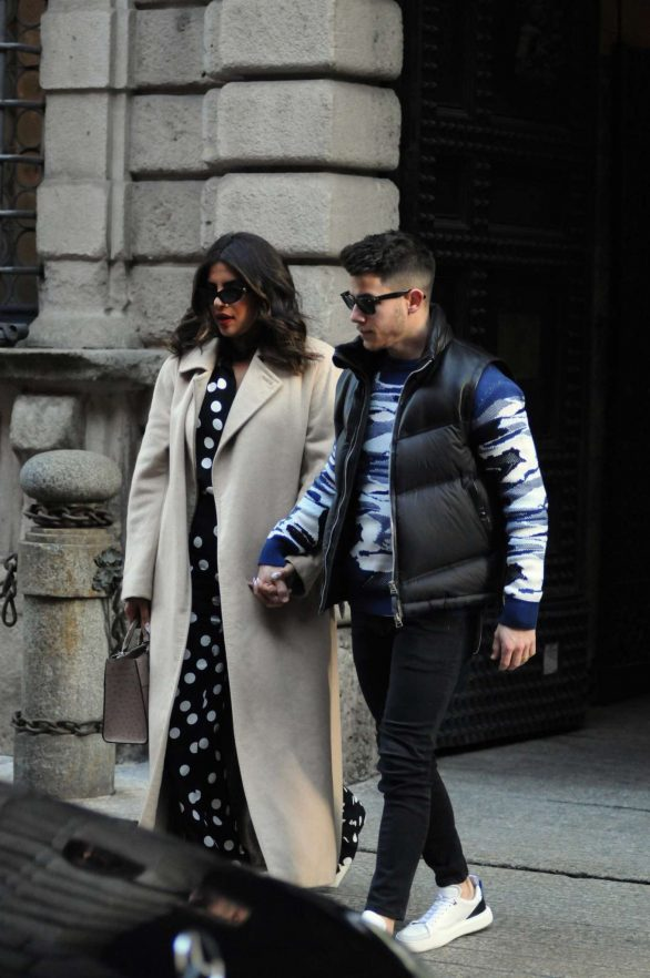 Nick Jonas and Priyanka Chopra - Valentine's Day lunch in Milan