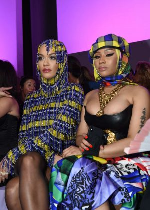 Nicki Minaj and Rita Ora - Versace Fashion Show in Milan