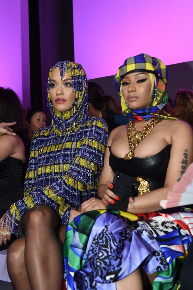 Nicki Minaj and Rita Ora – Versace Fashion Show in Milan