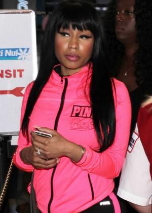 Nicki Minaj Arrives at LAX Airport in LA