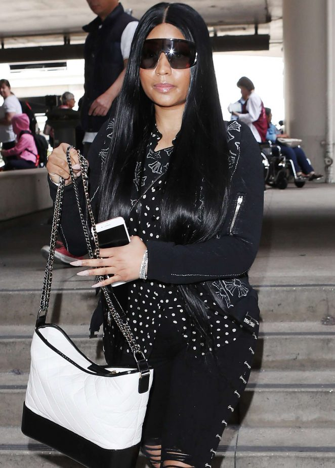 Nicki Minaj at LAX airport in Los Angeles