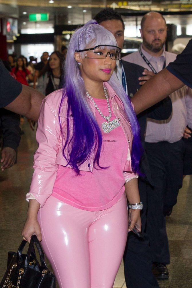 Nicki Minaj at Melbourne airport in Australia