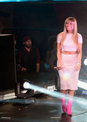 Nicki minaj celebrating the new year at drai s nightclub in las