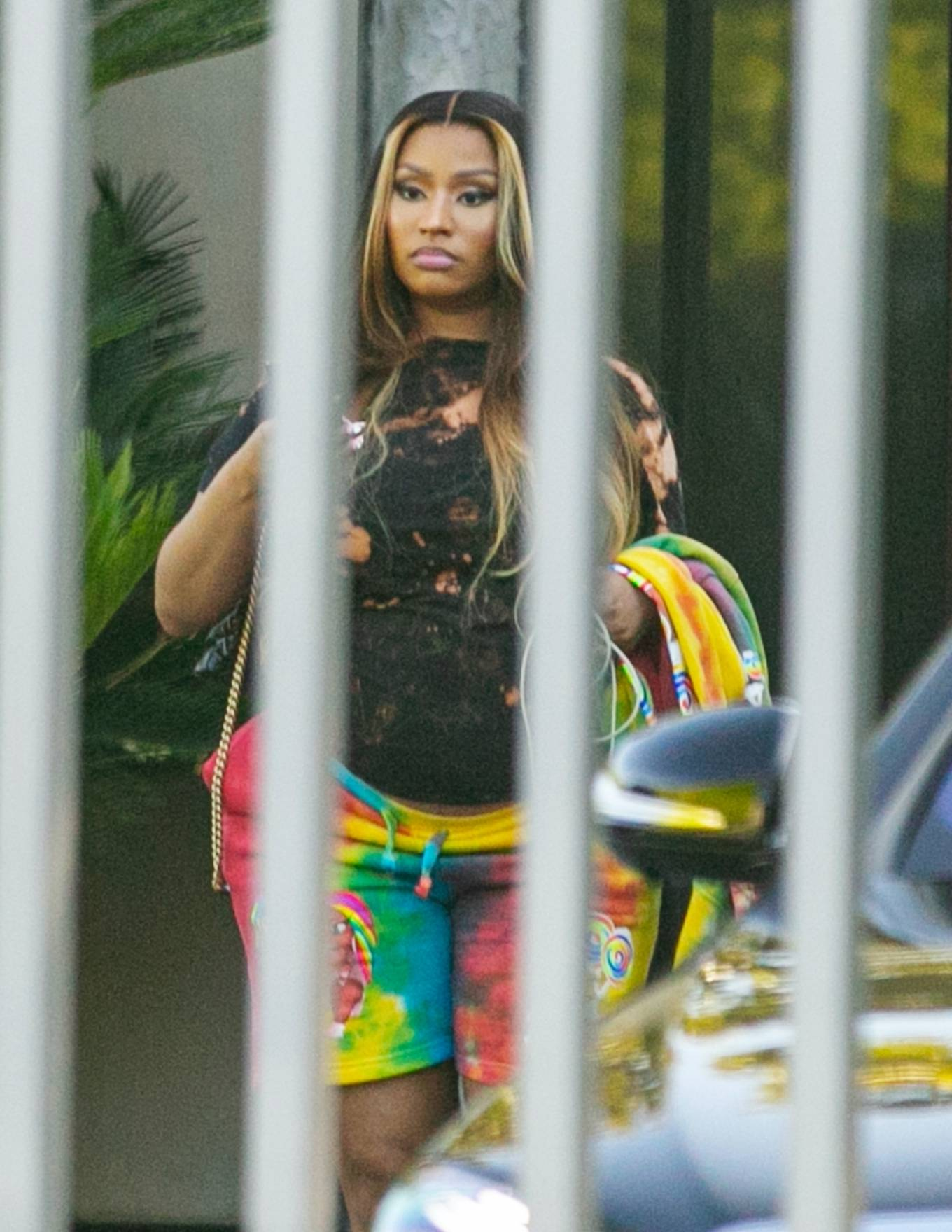 Nicki Minaj - Head to a photo shoot in West Hollywood