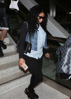 Nicki Minaj - LAX airport in LA