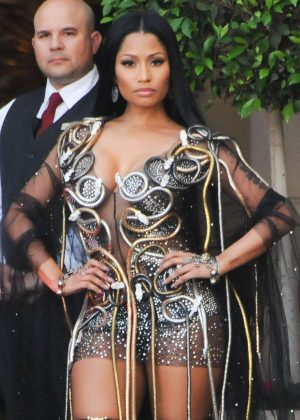 Nicki Minaj Leaves The Montage hotel in Beverly Hills