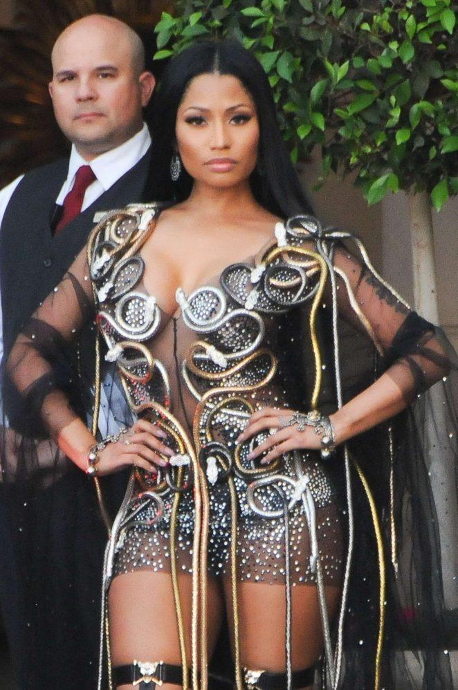 Nicki Minaj Leaves The Montage hotel in Beverly Hills