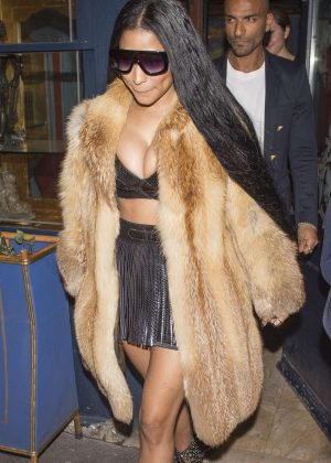 Nicki Minaj Leaving Laperouse Restaurant in Paris