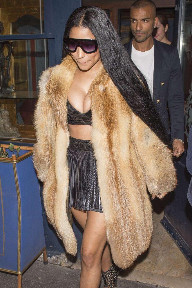 Nicki Minaj Leaving Laperouse Restaurant in Paris