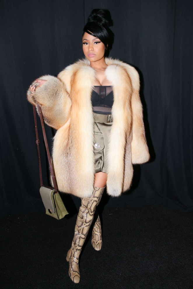 Nicki Minaj Marc Jacobs Fashion Show 2015 17 Gotceleb