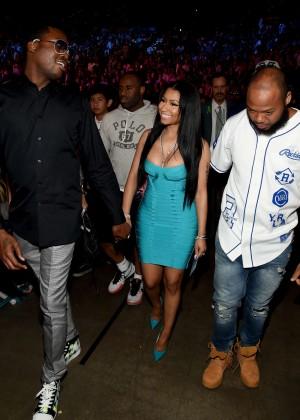 Nicki Minaj: At the Floyd Mayweather vs Manny Pacquiao Fight -02