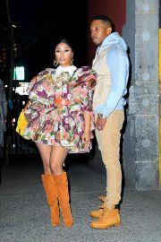 Nicki Minaj - Seen at the Marc Jacobs fashion show in New York City