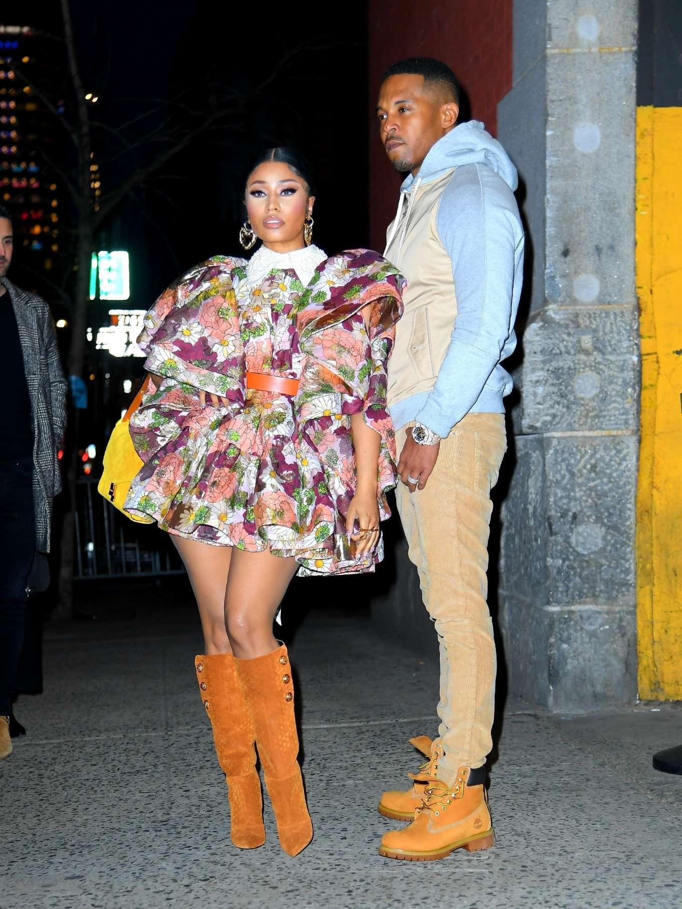 Nicki Minaj - Seen at the Marc Jacobs fashion show in New York City