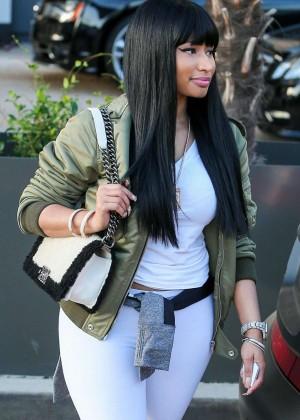 Nicki Minaj - Shopping at Barneys NY in Beverly Hills