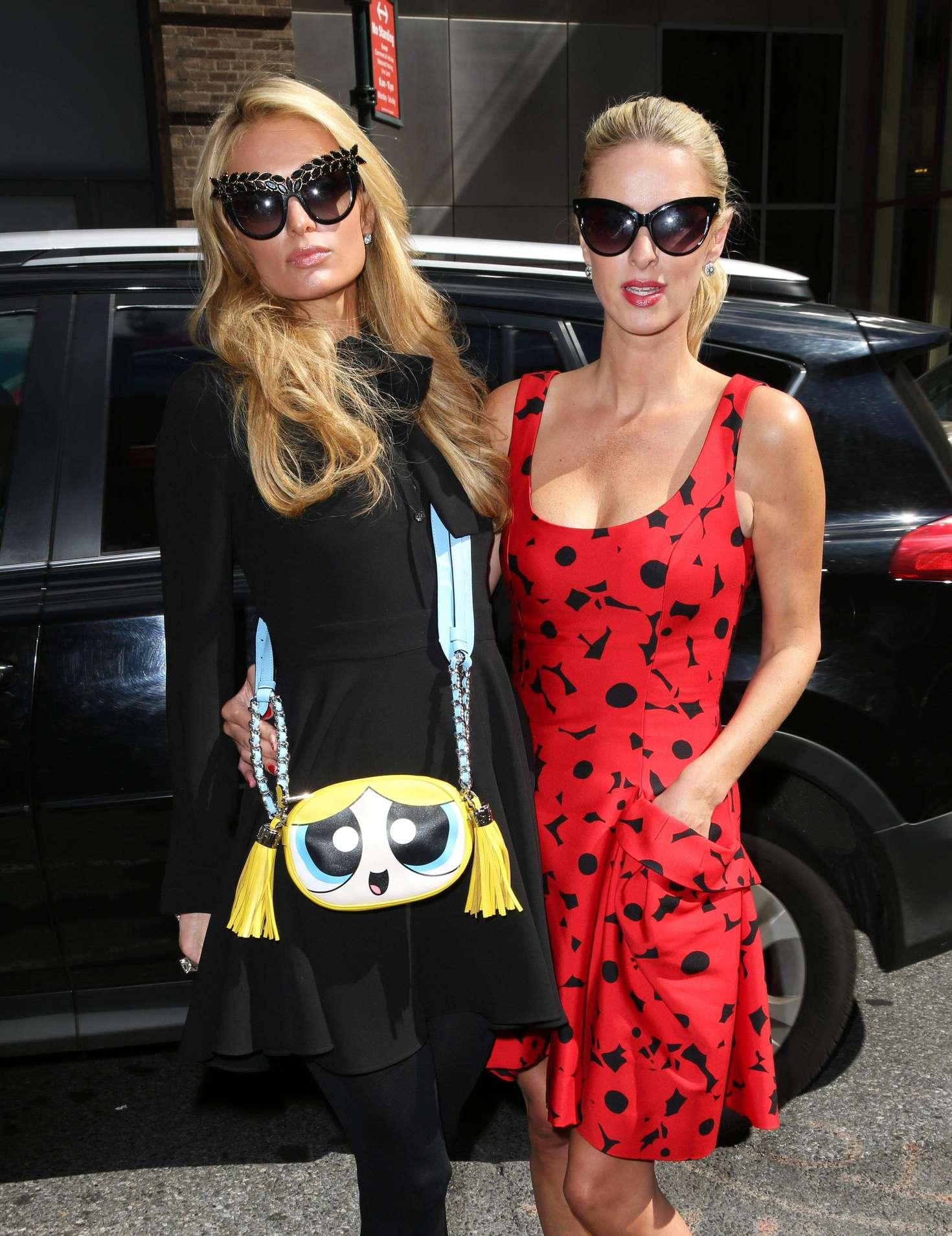 Nicky and Paris Hilton - Arrives to Carolina Herrera SS17 Show in New York City