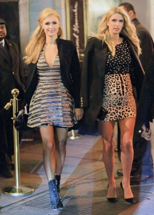 Nicky and Paris Hilton at Naomi Campbell's Party in NYC