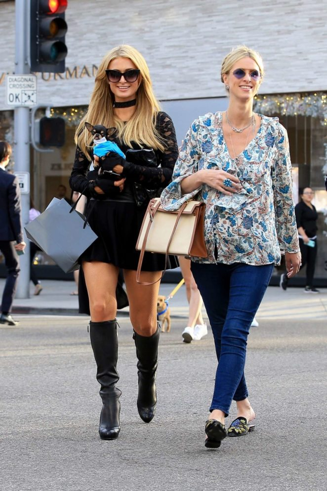 Nicky and Paris Hilton - Shopping in Beverly Hills