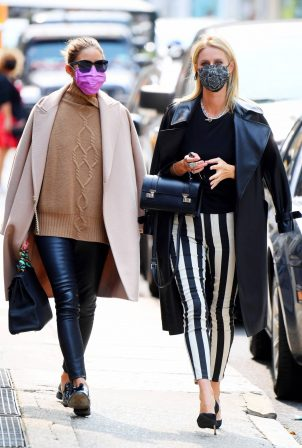 Nicky Hilton and Olivia Palermo - Out for a lunch at Sant Ambroeus in New York City