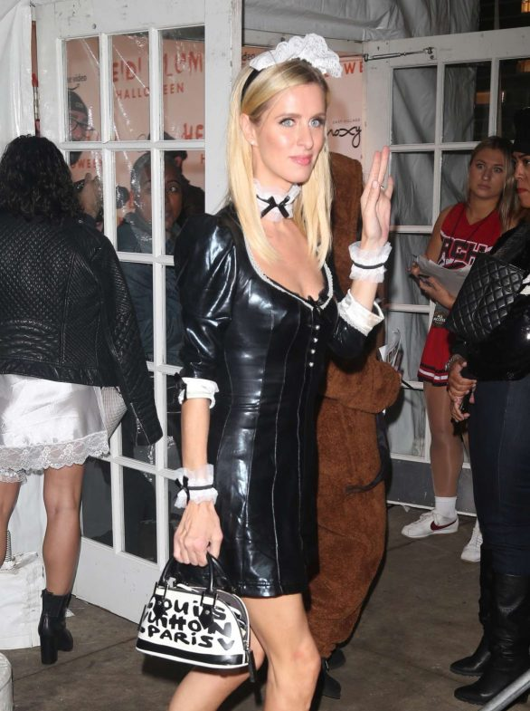 Nicky Hilton - Arrives at Heidi Klum's Halloween Party in New York