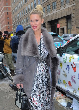 Nicky Hilton - Arrives at Jerremy Scott NYFW 2016 in New York
