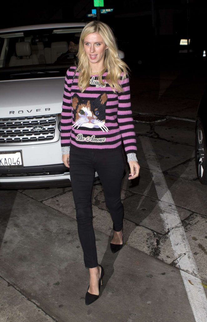 Nicky Hilton - Arriving at 'Craigs' Restaurant in West Hollywood