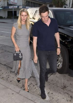 Nicky Hilton - Arriving for dinner at Craigs in West Hollywood