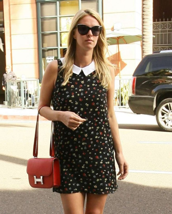 Nicky Hilton in Mini Dress at the Anastasia Salon in Beverly Hills