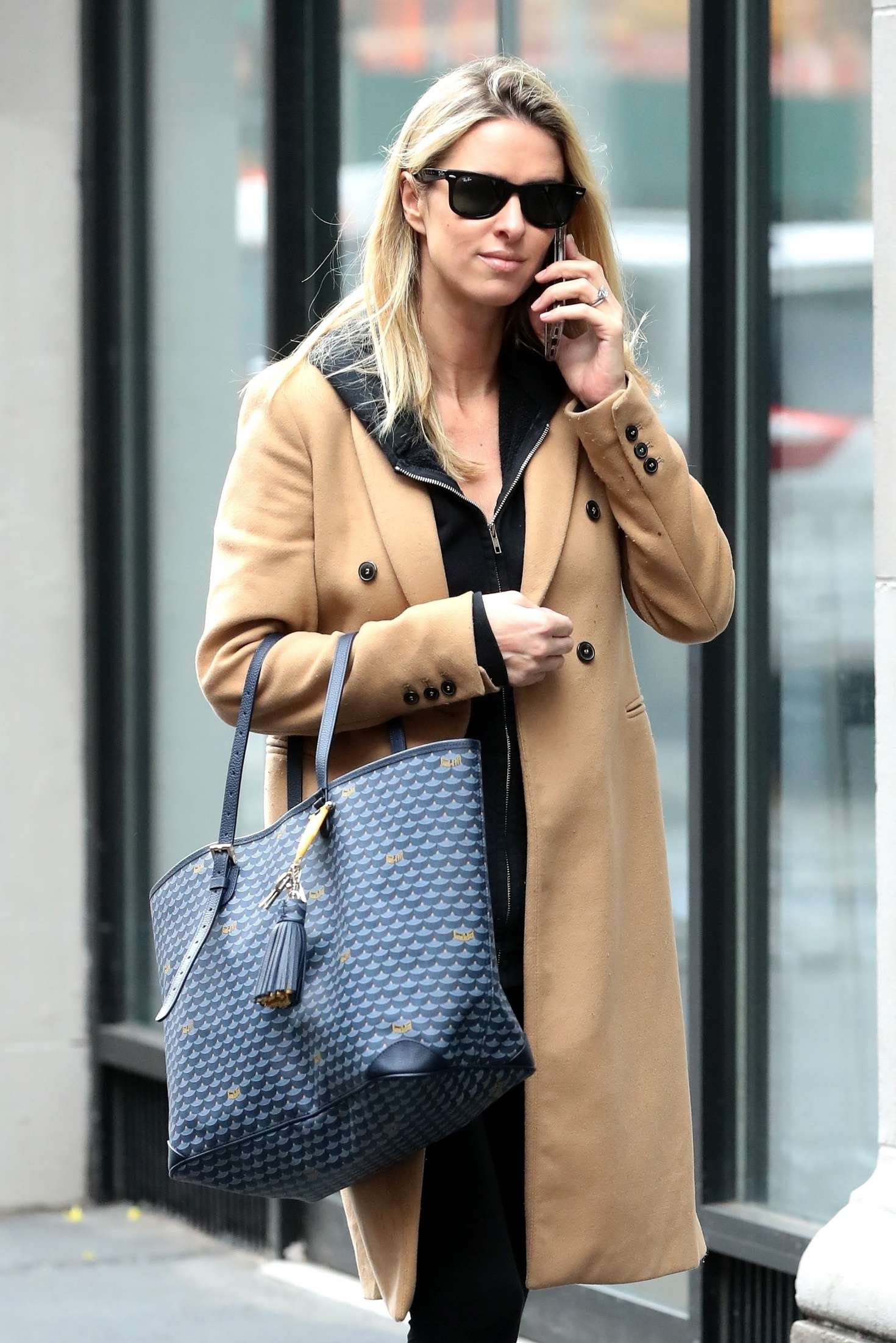 Nicky Hilton - Chats on her phone in New York City