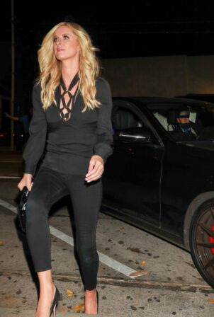 Nicky Hilton - dons all black outside Craig's Restaurant in West Hollywood