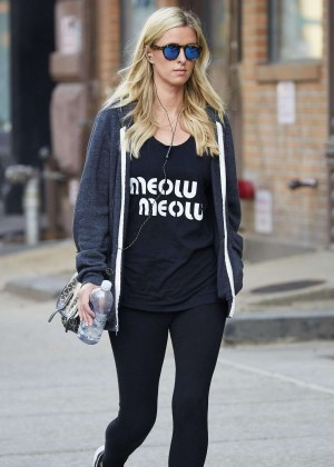 Nicky Hilton - Headed to the gym in NYC