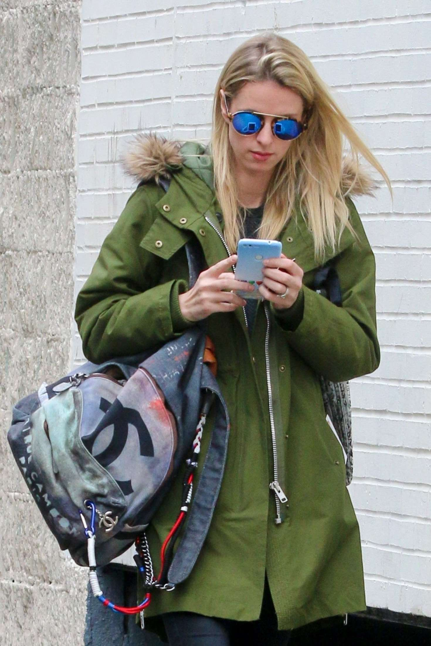 Nicky Hilton heads to the gym in New York