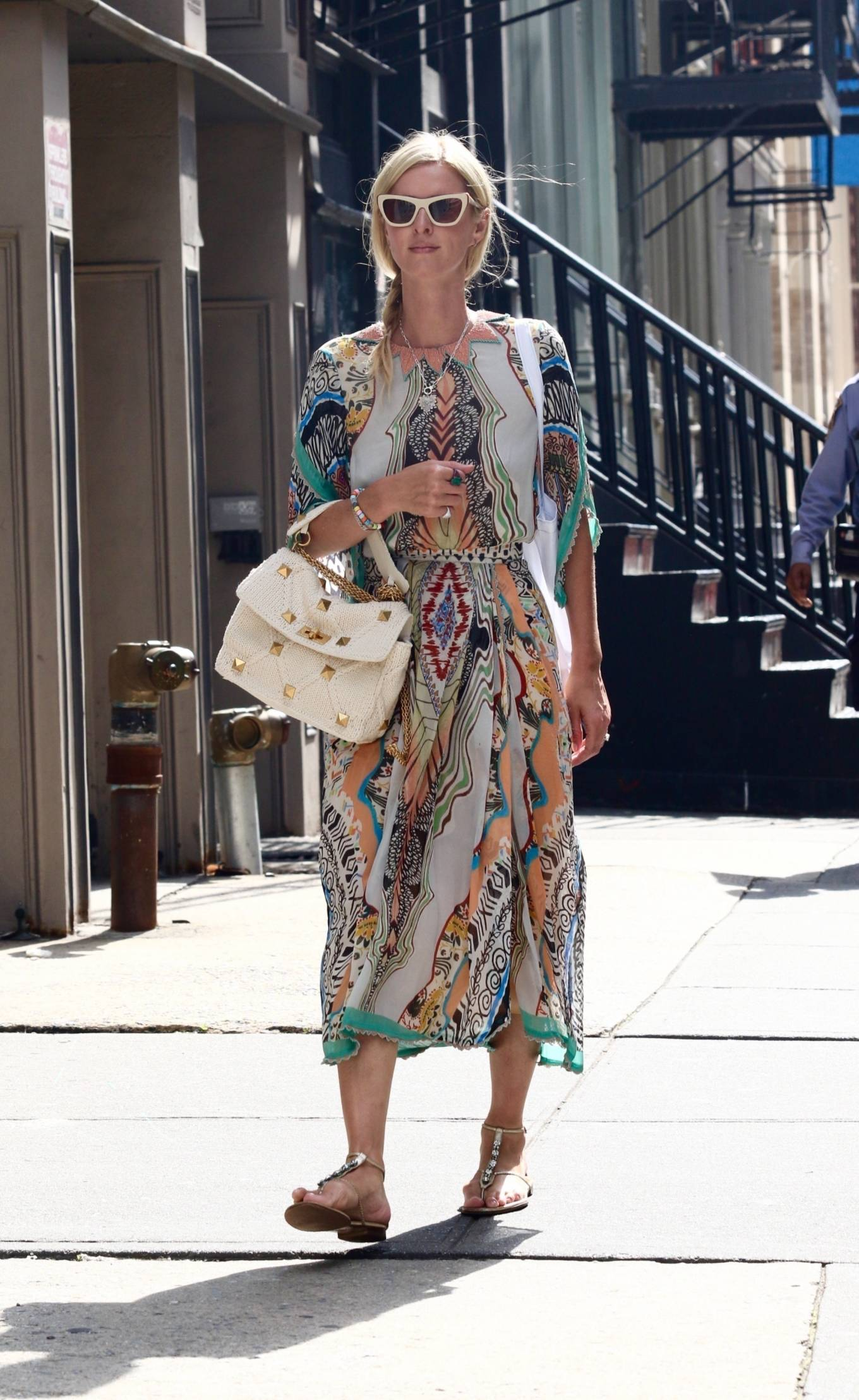 Nicky Hilton - In a colorful summery dress out on Labor Day Weekend in Manhattan's Soho area