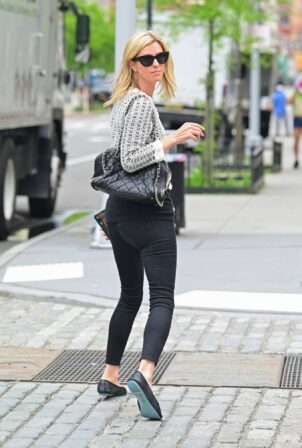 Nicky Hilton - In black and white ensemble with Chanel purse while out in New York