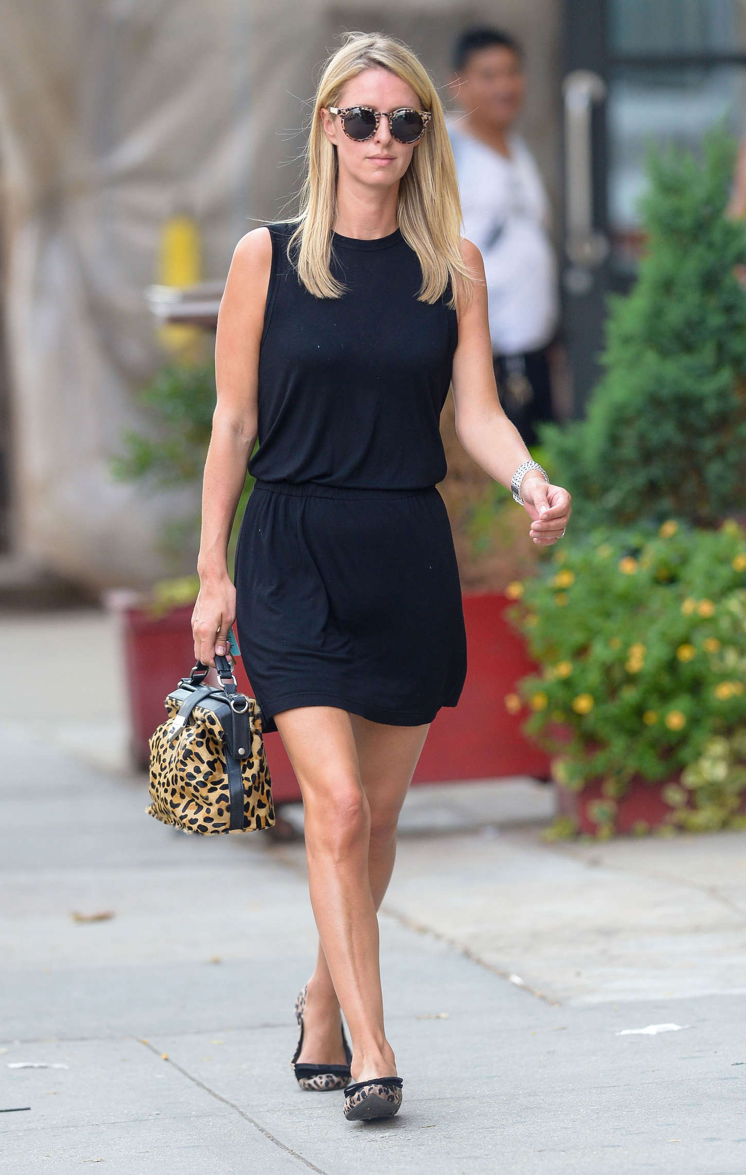 Nicky Hilton in Black Mini Dress out in NYC