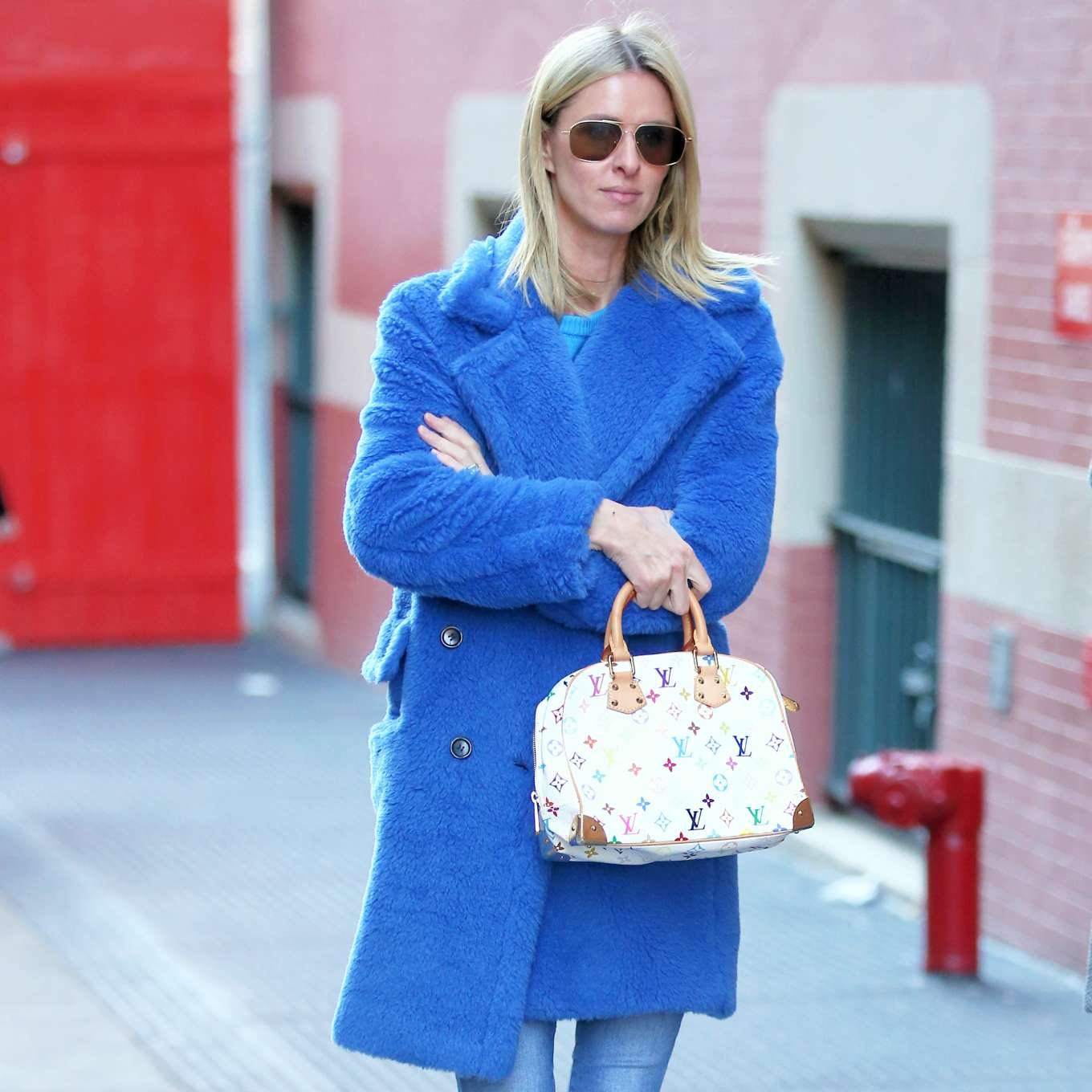 Nicky Hilton 2020 : Nicky Hilton in Blue Coat – Out and about in New York City-02