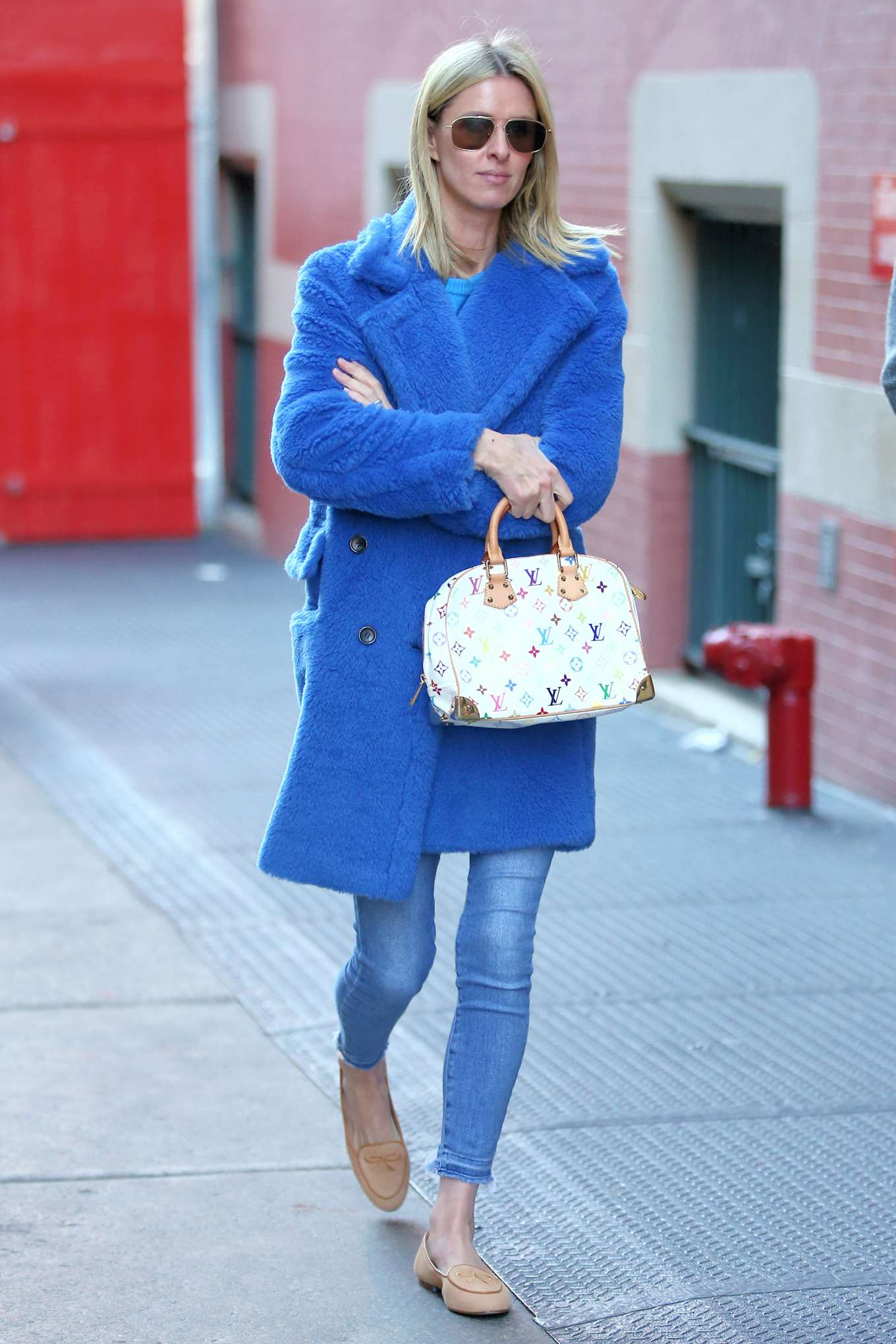 Nicky Hilton 2020 : Nicky Hilton in Blue Coat – Out and about in New York City-04
