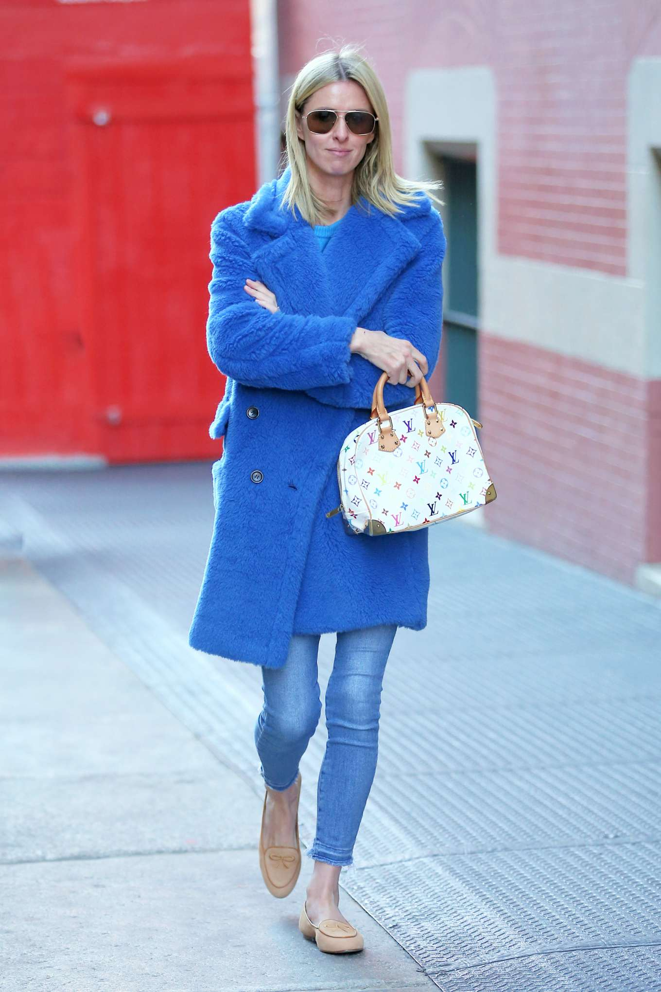 Nicky Hilton 2020 : Nicky Hilton in Blue Coat – Out and about in New York City-06